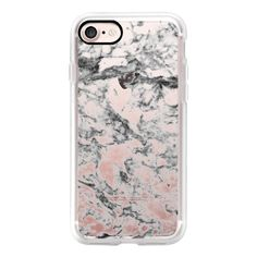 Elegant gray white modern marble texture patterns - iPhone 7 Case,... ($40) ❤ liked on Polyvore featuring accessories, tech accessories, iphone case, apple iphone case, pattern iphone case, iphone cases, print iphone case and iphone hard case
