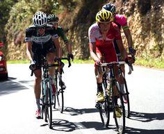 2014 vuelta-a-espana photos stage-20 Jerome Coppel leads a four men break