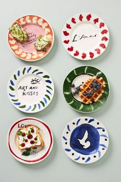 Hotel Magique for Anthropologie Melange Dessert Plate | Anthropologie Home Decor Accessories, Decorative Accessories, Beautiful Home Gardens, Valentine Day Gifts, Valentines, Side Plates, Spring Home, Kitchen Collection, Paper Goods