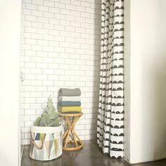 Found it at Wayfair - Ferm Living Cotton Half Moon Shower Curtain Set