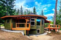 A Firsthand Look at the Magnolia 2300 Yurt – the First Energy Star Home in British Columbia Magnolia 2300 – Inhabitat - Sustainable Design Innovation, Eco Architecture, Green Building Building A Yurt, Green Building, Building A House, Natural Building, Round Building, Yurt Home, Yurt Living, Living Room, Tent Camping
