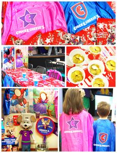 Chuck E Cheese Birthday Party Favors, Decorations and Birthday Child Surprises - We loved having everything taken care of! #party #kids #ad