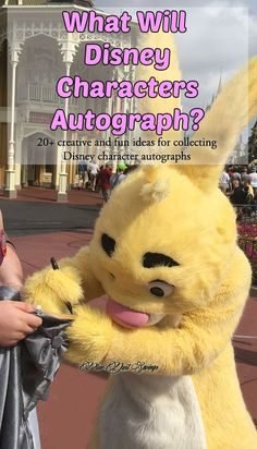 What Will Disney Characters Autograph? Walt Disney World Travel Tips