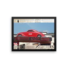 Framed poster(Coca Cola car)