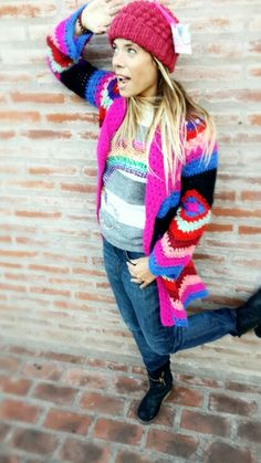 Saco Sweater Arcoiris by Tory Gil