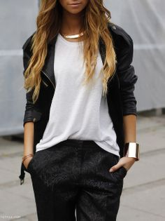 fashforfashion -♛ STYLE INSPIRATIONS♛ ck sweet and simple black and white