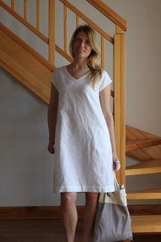 Linen dress White linen dress Oversize linen от Maliposhaclothes