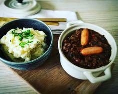 Mormors millionbøf m/mos | Gastrosita Acai Bowl, Chili, Soup, Beef, Breakfast, Recipes, Acai Berry Bowl, Meat, Morning Coffee
