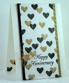 Anniversary card with DIY stencil
