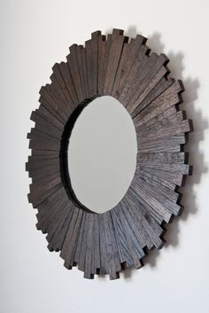 Shop for reclaimed wood mirrors on Etsy, the place to express your creativity through the buying and selling of handmade and vintage goods. Reclaimed Wood Mirror, Driftwood Mirror, Diy Mirror, Mirror Ideas, Driftwood Projects, Reclaimed Wood Projects, Sunburst Mirror, Round Mirrors, Wood Shelves