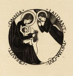 Eric Gill 'Madonna and Child with Angel', 1916