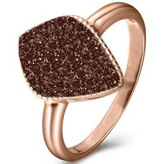 H.AZEEM London Elara's Coffee Star Ring (195 BAM) ❤ liked on Polyvore featuring jewelry, rings, red gold jewelry, red gold ring, pink gold jewelry, star ring and star jewelry