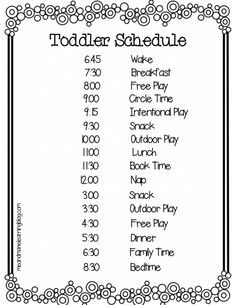 Toddler Daily Schedules on Pinterest