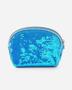 Flip Sequin Cosmetics Bag. Justice Bags, Blue Christmas, Cosmetic Bag, Coin Purse, Sequins, Cosmetics, Purses, Wallet, Silver