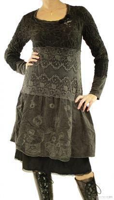 7fa388f66d Long dress 45101 dark grey Elisa Cavaletti Thrift Fashion
