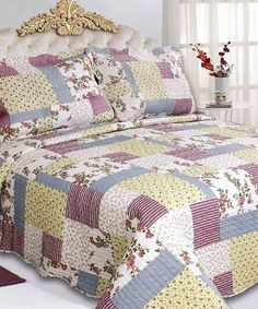 Look what I found on #zulily! Patches Rosemary Three-Piece Comforter Set #zulilyfinds