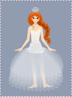 Princesse \\  Illustration Marie-Rose Boisson