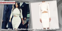 Where did Kim Kardashian get her white crop top and skirt from whilst out in Beverly Hills 25/08/14? - Style on Screen