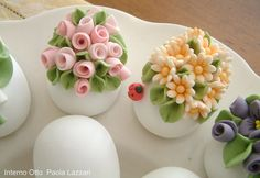Roses, Daisies and Lady Bug---Sweet & Small---a quick do.
