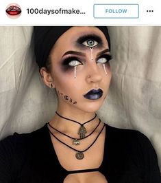 nice fortune teller makeup. Are you looking for scary horrifying Halloween makeup ideas for women to look the best at the Halloween party? See our photo collage to pick the one that fits the Halloween costume.