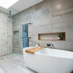 16 Awesome Scandinavian Bathroom Design Ideas - The colour and texture of vanity defines the luxury of your bathroom. Scandinavian styled timber interior and architecture are a good alternative to conventional vanity fittings. Bathroom Niche, Bathroom Trends, Laundry In Bathroom, Bathroom Layout, Modern Bathroom, Small Bathroom, Bathroom Ideas, Bathroom Designs, Bath Ideas