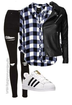 Cute Emo Outfits, Lesbian Outfits, Bad Girl Outfits, Teenage Girl Outfits, Girls Fashion Clothes, Teen Fashion Outfits, Edgy Outfits, Outfits For Teens, Tomboy Fashion