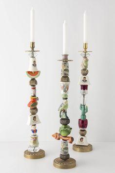 trinket candelsticks   Trinket & Treasure Candlestick - Anthropologie.com   Decor