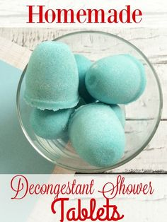 "How to Make Homemade ""Vicks"" Shower Melts - Skip the store bought vapor tablets! This homemade natural remedy works much better, is cheaper and are so easy to make! You'll wonder you waited so long to make the switch!"
