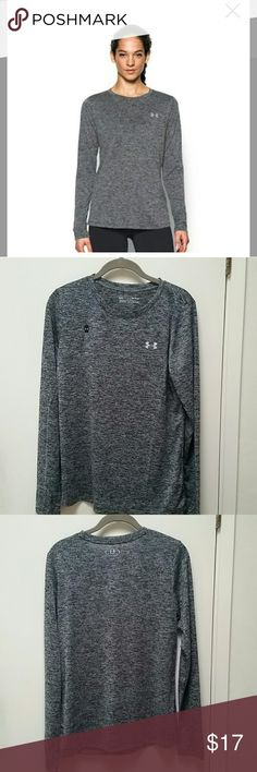 Women's Under Armour Long Sleeve Tee PRODUCT FEATURES: UA Tech™ fabric is quick-drying, ultra-soft & has a more natural fee Lightweight stretch construction improves mobility for full range of motion Material wicks sweat & dries really fast Anti-odor technology prevents the growth of odor-causing microbes Allover twist effect Long sleeves Crewneck  FABRIC & CARE: Polyester Machine wash  *Price firm unless bundled Under Armour Tops Tees - Long Sleeve
