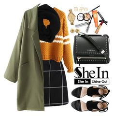 """""""www.shein.com"""" by oshint ❤ liked on Polyvore featuring Wyatt, Givenchy, Borghese, Chanel, Lacoste, amazing, cool, Sheinside, winterfashion and shein"""