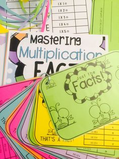 70 Activities, Posters in 4 awesome designs, a book for each student! Preschool Curriculum Free, Free Preschool, Teaching Math, Math Resources, Math Activities, Multiplication Facts, Math Facts, Real Teacher, Math Intervention