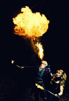 """A fire performer in """"The Night Circus."""""""
