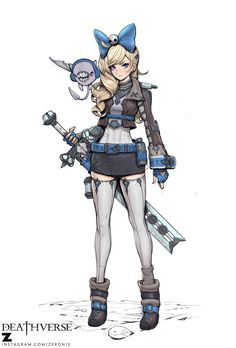 Here's an original character art from Deathverse. Its a small project of mine. Video process is available.