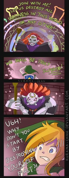 -- Zelda : A Link Between Worlds comic -- by Kurama-chan - This is exactily what I thought