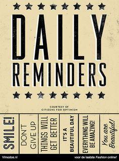 Daily reminders. www.vimodos.nl