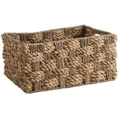 Pier 1 Imports Carlisle Shelf Basket - Small (€28) ❤ liked on Polyvore featuring home, home decor, small item storage, basket, weave basket, seagrass basket, woven basket, water hyacinth basket and sea grass baskets