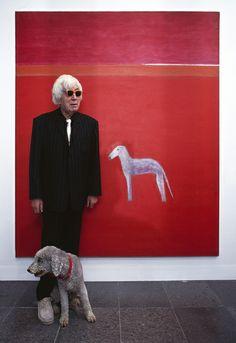 Craigie Aitchison and Bedlington- Scottish Painter Portrait Quotes, Dog Artwork, Art Studios, Dinosaur Stuffed Animal, Artsy, Drawings, Illustration, Dogs, Animals