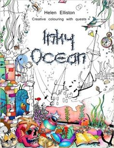 Inky Ocean Creative Colouring With Quests Volume 1 Books