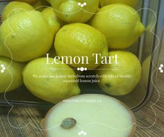 Lemon tart=perfection! How To Squeeze Lemons, Tart, Juice, Fruit, How To Make, Food, Juicing, Pie, Tarts