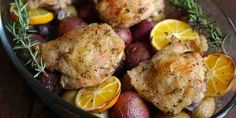 Roasted Lemon-Rosemary Chicken and Potatoes — thewarriorwife.com blog