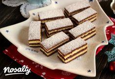 Mézes tejfölös pudingos szelet | Nosalty Hungarian Desserts, Hungarian Cake, Hungarian Recipes, Hungarian Food, My Recipes, Sweet Recipes, Cookie Recipes, Ital Food, Individual Cakes