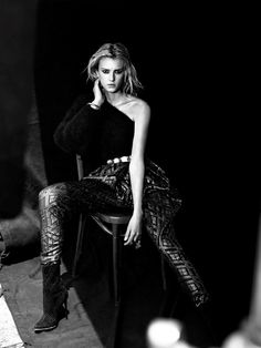 Sigrid Agren by Victor Demarchelier (One Woman Show - L'Express Styles #3244 September 2013)