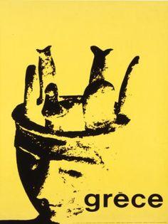 GRECE 1963. Σχεδιαστής σύνθεσης ο Μιχάλης Κατζουράκης. Commercial Art, Vintage Travel Posters, Art Reference, Retro Vintage, The Past, Visit Greece, Movie Posters, Homeland, Breeze