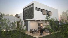 Fachada Poniente.: Casas de estilo Moderno por Nova Arquitectura
