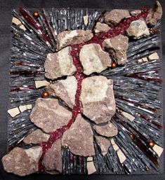 Stone and glass mosaic by Carrie Doman