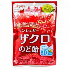 A bala japonesa sabor Romã da Kasugai possui o autêntico sabor da fruta, além de ser sem açúcar e enriquecida com vitamina C. Cada bala contém 50% da recomendação diária de vitamina C e 10kcal por unidade.