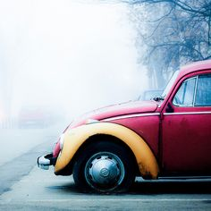 Old pink fusca!