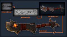 ArtStation - Obsidian Buster Sword, Wesley Meek