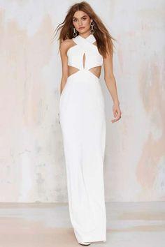 Solace Mona Cutout Maxi Dress White Maxi Dresses, Pretty Dresses, Sexy Dresses, Hipster Outfits, Floor Length Dresses, Pink Fashion, Shingo Sato, Black Tie, Cl