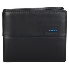 Cross Men's Leather Bifold Coin Wallet with Credit Card and Currency Compartment - Black * Read more reviews of the product by visiting the link on the image.